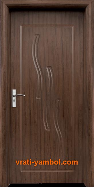 Интериорна HDF врата, модел 014-P Орех
