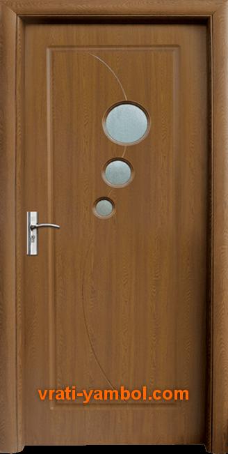 Интериорна HDF врата, модел 017 Златен дъб