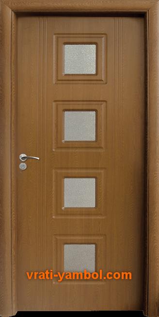 Интериорна HDF врата, модел 021 Златен дъб