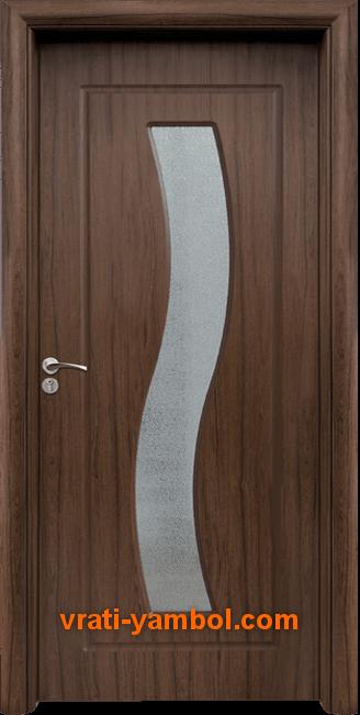 Интериорна HDF врата, модел 066 Орех