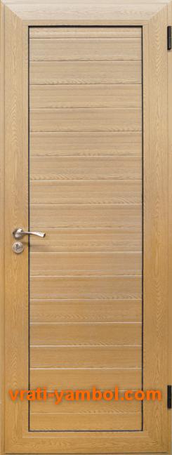 Алуминиева врата за баня, Светъл дъб