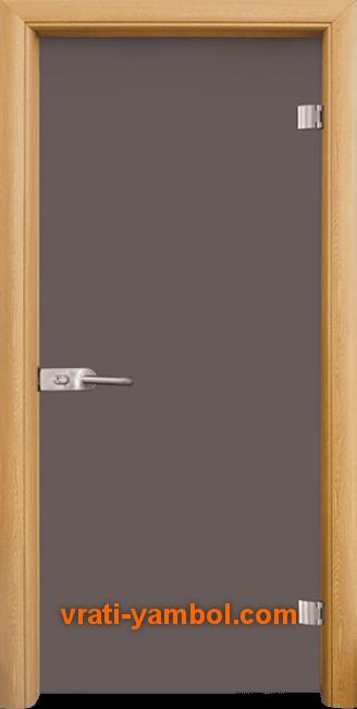 Стъклена интериорна врата модел Basic G 10-1 с каса Светъл дъб