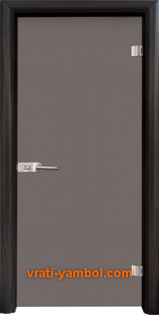 Стъклена интериорна врата модел Basic G 10-1 с каса Венге