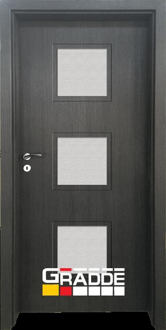 Интериорна HDF врата, модел Gradde Bergedorf, Череша Сан Диего