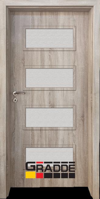 Интериорна HDF врата, модел Gradde Blomendal, Дъб Вераде