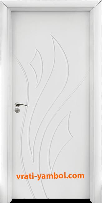 Интериорна HDF врата, модел 033-P Бял