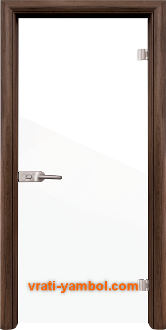 Стъклена интериорна врата модел Folio G 15-1 с каса Орех