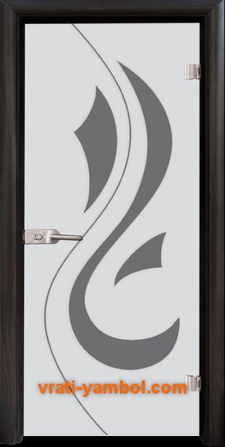 Стъклена интериорна врата модел Sand G 14-10 с каса Венге
