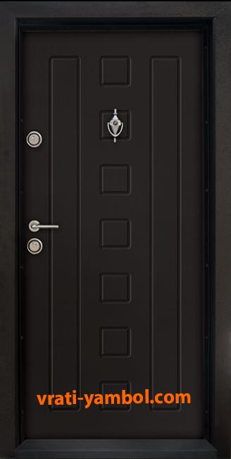 Блиндирана входна врата, модел Т712, цвят Африка