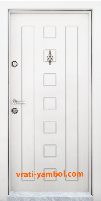 Блиндирана входна врата, модел Т712, цвят Бял