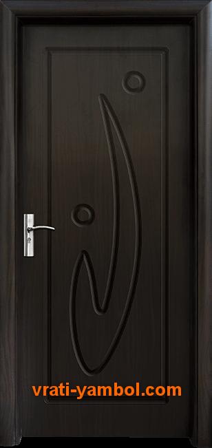 Интериорна HDF врата, модел 070-P Венге