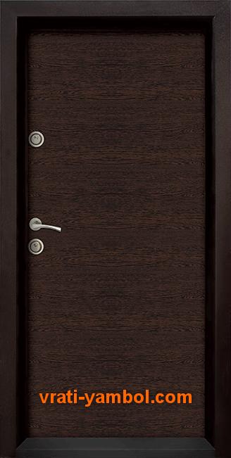 Блиндирана входна врата, модел Ale Door 403, цвят Wenge