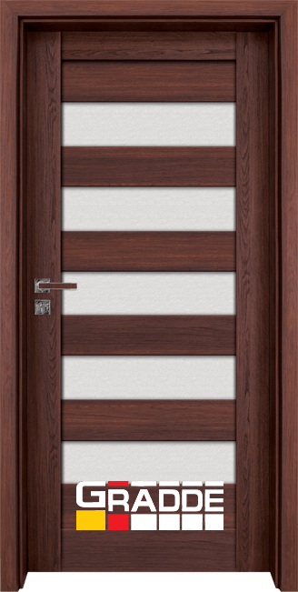 Интериорна HDF врата, модел Gradde Aaven Glas, Шведски дъб