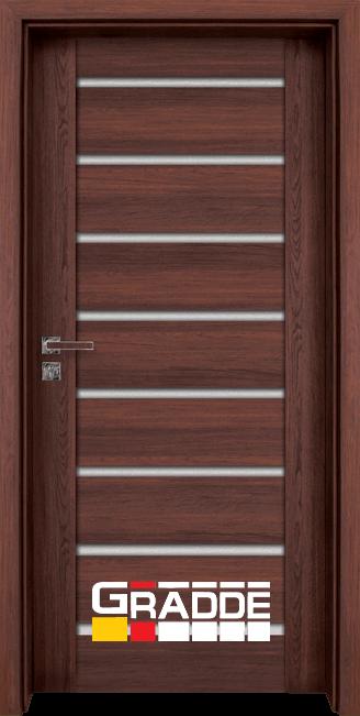 Интериорна HDF врата, модел Gradde Axel Glas, Шведски дъб