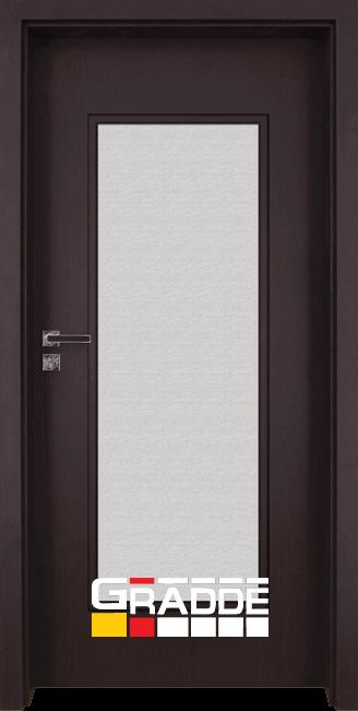 Интериорна HDF врата, модел Gradde Baden, Modell 1, Орех Рибейра