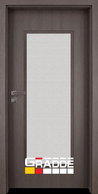 Интериорна HDF врата, модел Gradde Baden, Modell 1, Череша Сан Диего