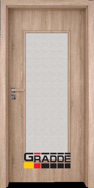 Интериорна HDF врата, модел Gradde Baden, Modell 1, Дъб Вераде