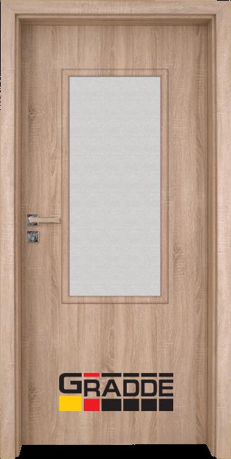 Интериорна HDF врата, модел Gradde Baden, Modell 2, Дъб Вераде