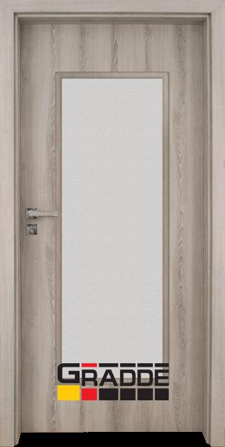 Интериорна HDF врата, модел Gradde Baden, Modell 1, Ясен Вералинга