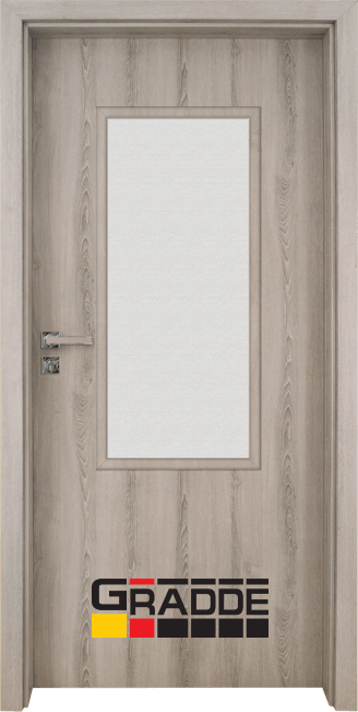 Интериорна HDF врата, модел Gradde Baden, Modell 2, Ясен Вералинга